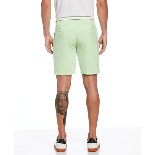 All Over Pete Embroidered Golf Short In Paradise Green