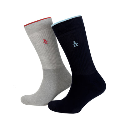 2 PACK SPORTS SOCKS IN ASSORTED COLOURS