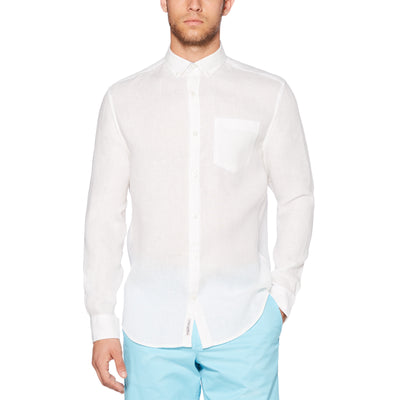 Linen Shirt In Bright White