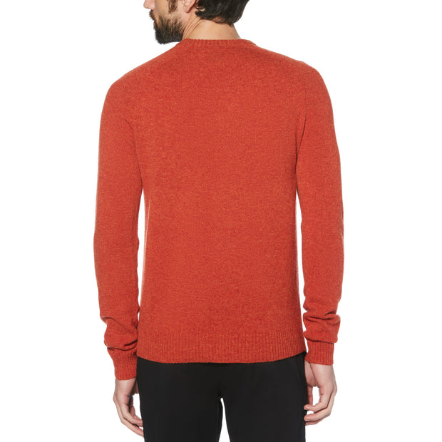 Lambswool Crew Neck Sweater In Ketchup