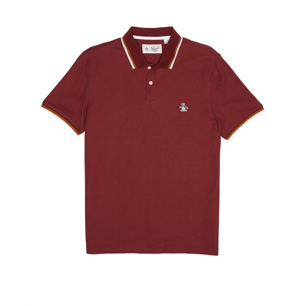 PIQUE POLO SHIRT IN TAWNY PORT