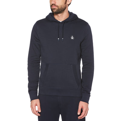 Sticker Pete Fleece Pullover Hoodie In Dark Sapphire