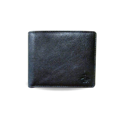 DUNE LEATHER WALLET IN TRUE BLACK