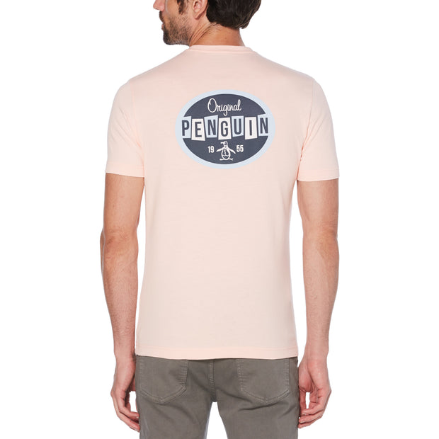 Future Retro Logo T-Shirt In Impatiens Pink