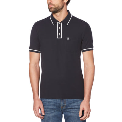 THE EARL POLO SHIRT IN DARK SAPPHIRE/BRIGHT WHITE