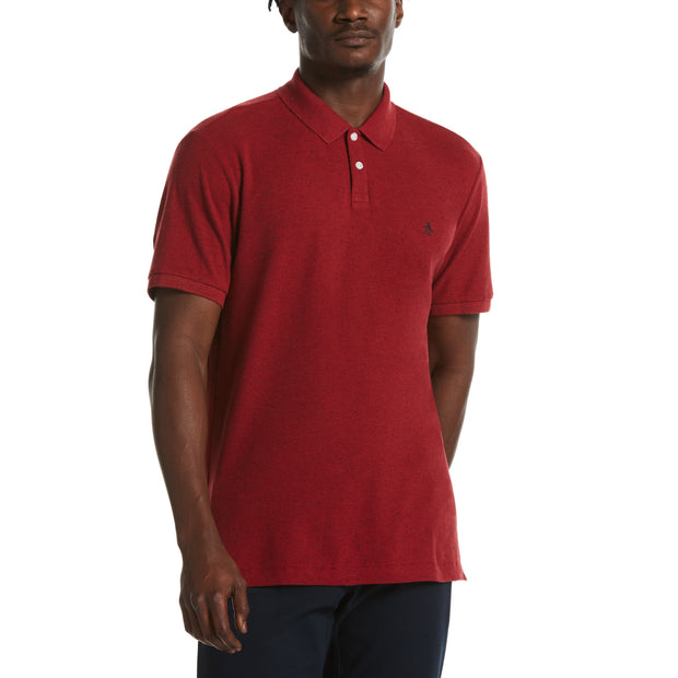 Donegal Polo Shirt In Red Dahlia