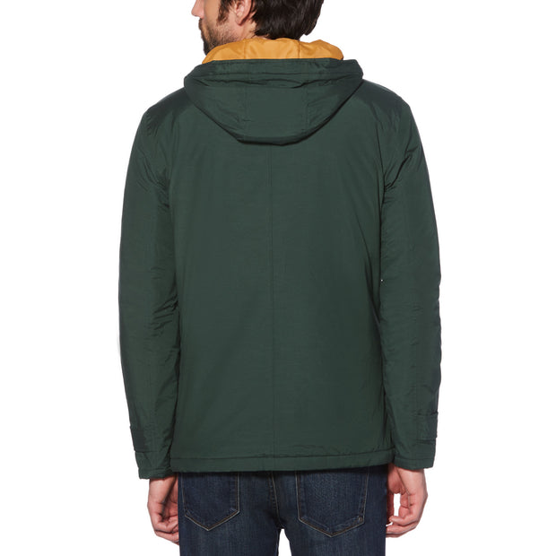 HOODED ANORAK IN DARKEST SPRUCE