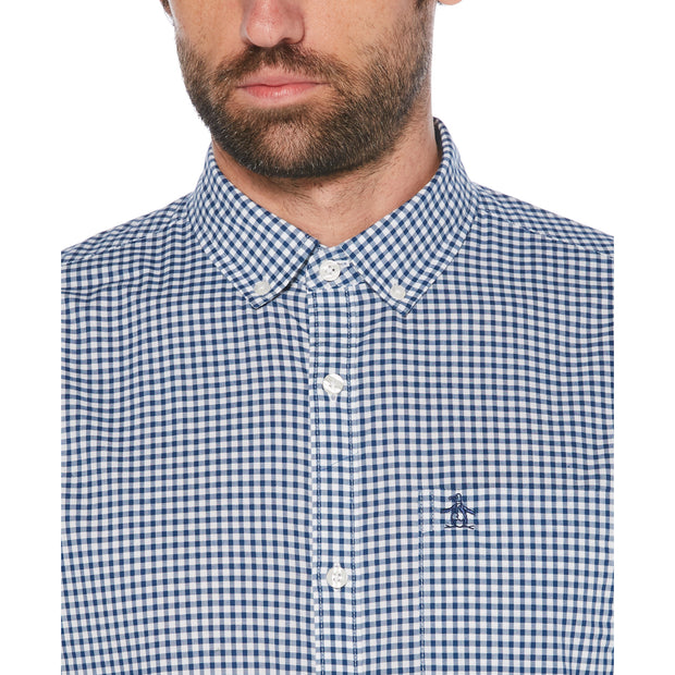 GINGHAM SHIRT IN ESTATE BLUE