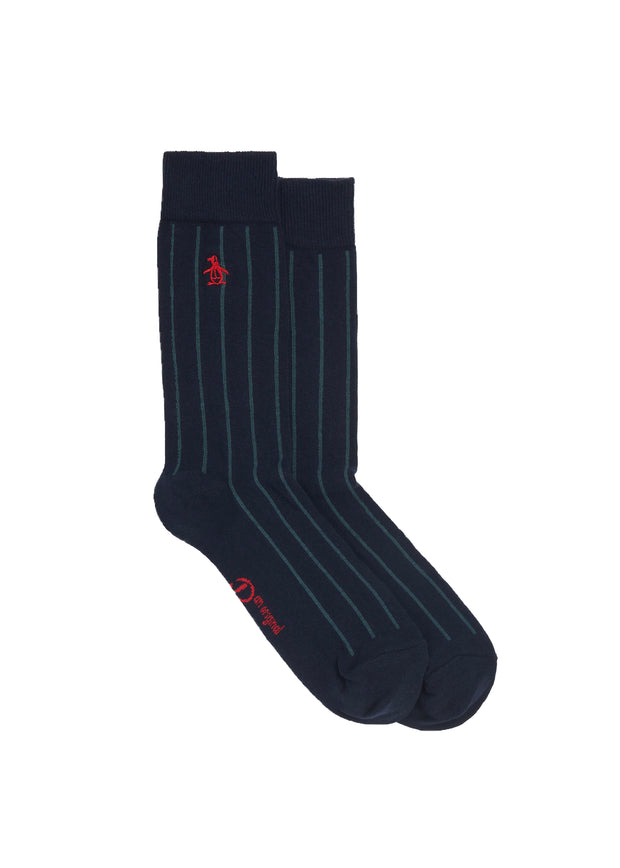 3 Pack Multi Stripe Socks In Dark Sapphire