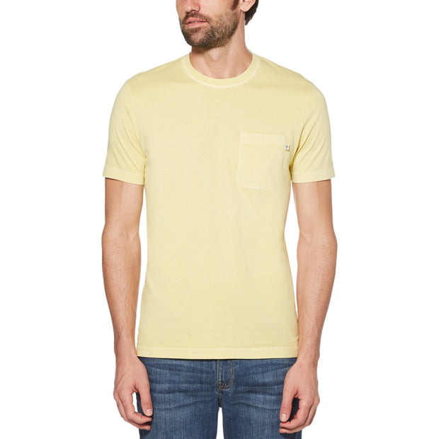 PATCH POCKET T-SHIRT IN PINEAPPLE SLICE
