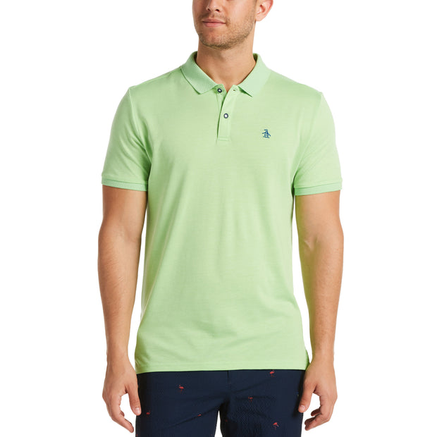 Birdseye View Golf Polo Shirt In Jade Lime