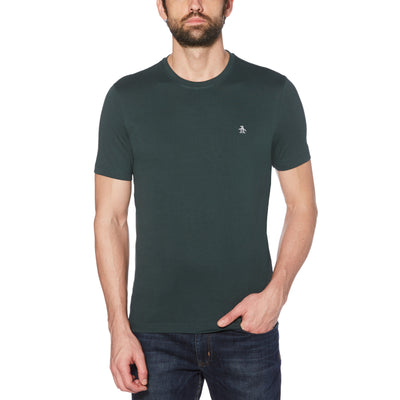 PIN POINT EMBROIDERY T-SHIRT IN DARKEST SPRUCE