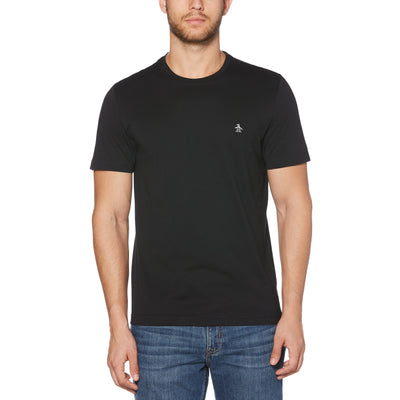 Pin Point T-Shirt In True Black