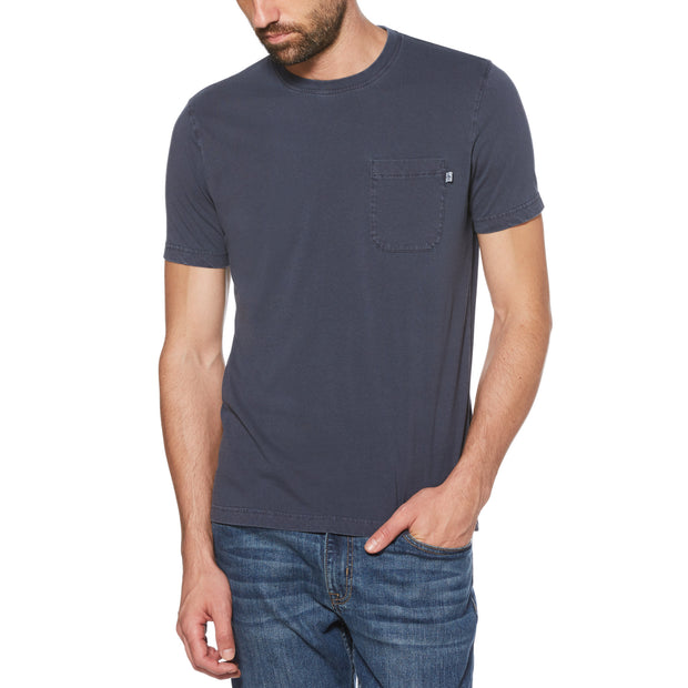 PATCH POCKET T-SHIRT IN DARK SAPPHIRE