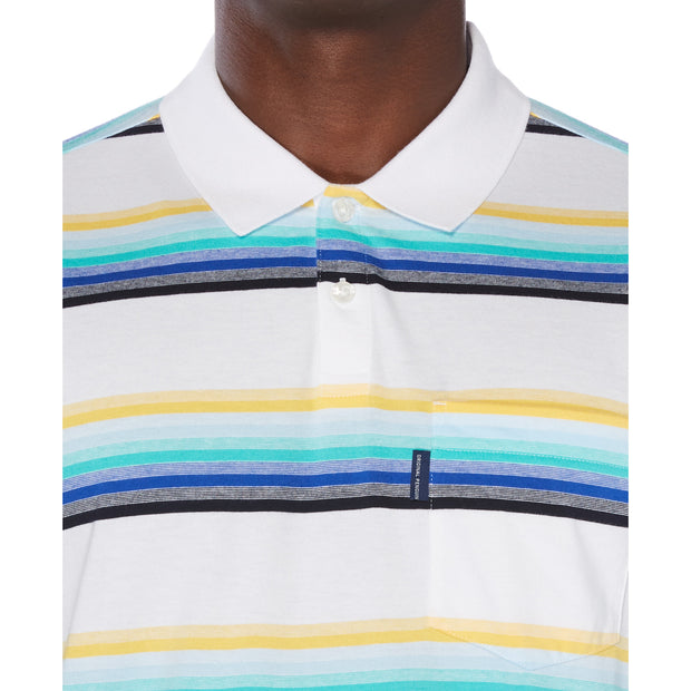 Multi-Stripe Polo Shirt In Bright White