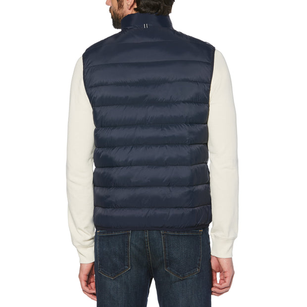 LIGHTWEIGHT FILLED VEST IN DARK SAPPHIRE