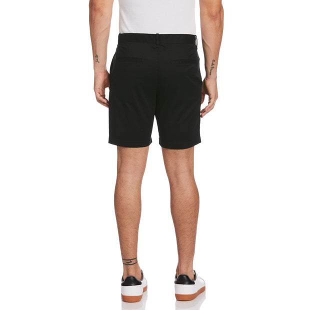 Micro Twill Slim Fit Short In True Black