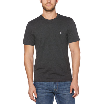 PIN POINT T-SHIRT IN DARK CHARCOAL HEATHER