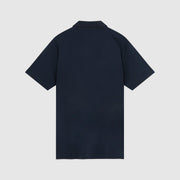Engineered Stripe Jersey Polo Shirt In Dark Sapphire