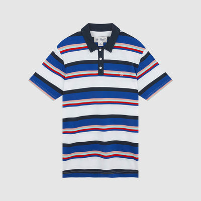 Stripe Polo Shirt In Bright White