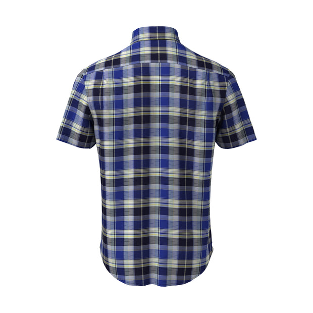 Roadmap Plaid Shirt In Dark Sapphire