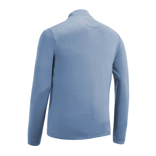 The Earl Quarter Zip Golf Jumper In Regatta