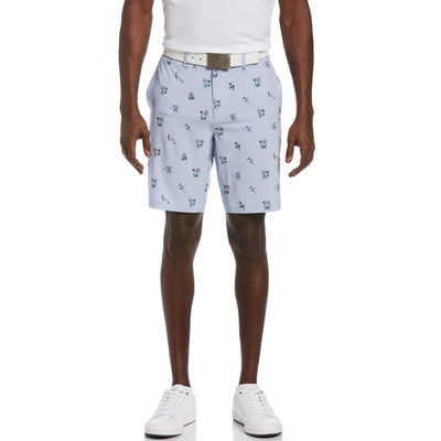All Over Print Golf Short In Lavender Luster