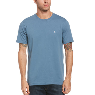 Pin Point Embroidred Logo T-Shirt In Copen Blue