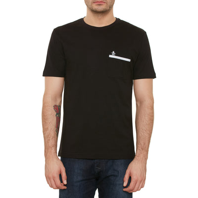 TAPE POCKET T-SHIRT IN TRUE BLACK
