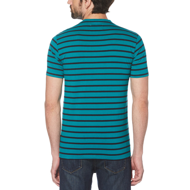 Breton Stripe T-Shirt In Deep Lake