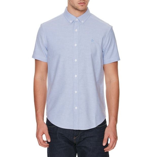 Short Sleeve Oxford Shirt In Amparo Blue