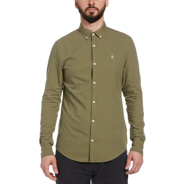 Oxford Shirt In Deep Lichen Green