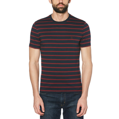 BRETON STRIPED T-SHIRT IN DARK SAPPHIRE
