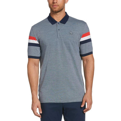 Abbot Block Golf Polo Shirt In Black Iris