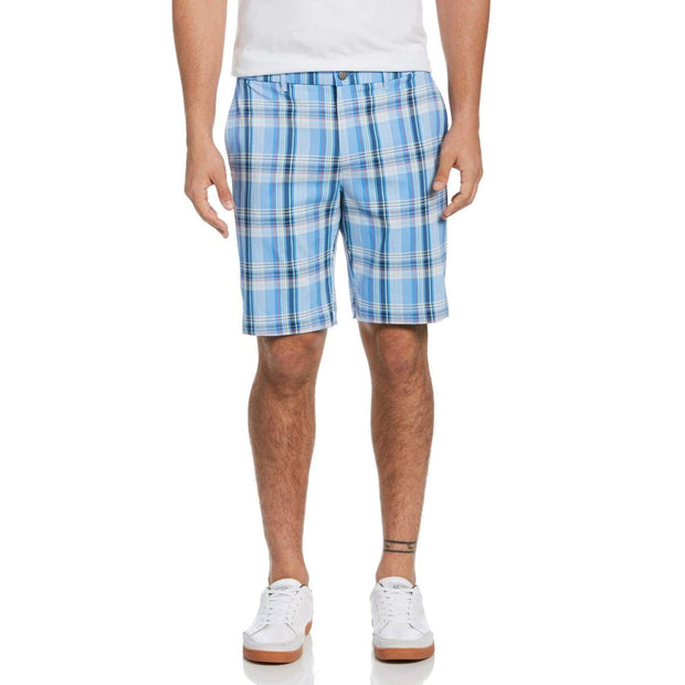 Par-Tee Madras Plaid Golf Shorts In Regatta