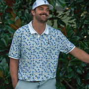 Pete In Paradise Golf Polo Shirt In Bright White