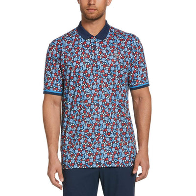 Pete In Paradise Golf Polo Shirt In Black Iris
