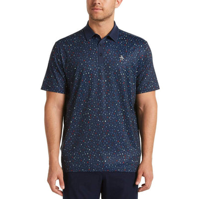Spelling Pete Golf Polo Shirt In Black Iris