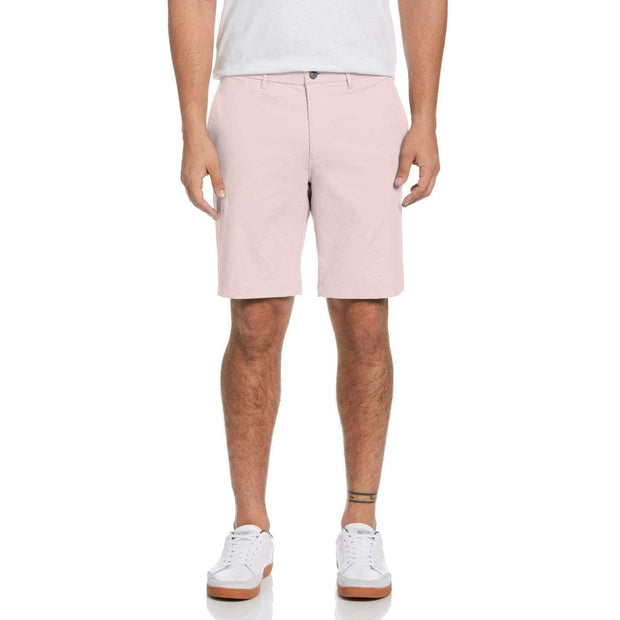 Herringbone Golf Shorts In Rose Of Sharon