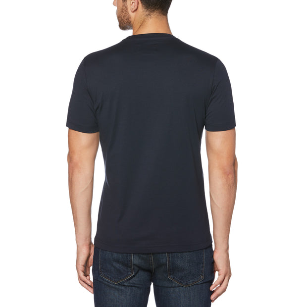 PIN POINT T-SHIRT IN DARK SAPPHIRE