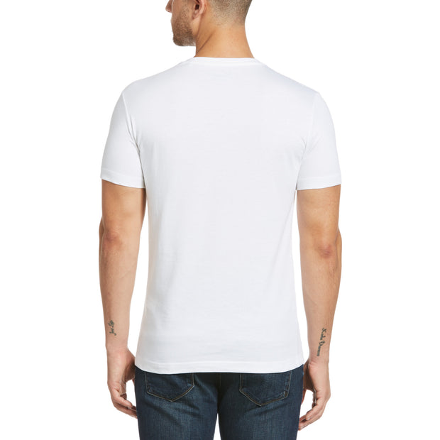Ditsy Pete T-Shirt In Bright White