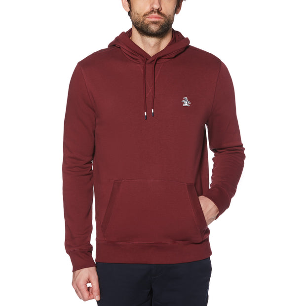 STICKER PETE FLEECE PULLOVER HOODIE IN TAWNY PORT
