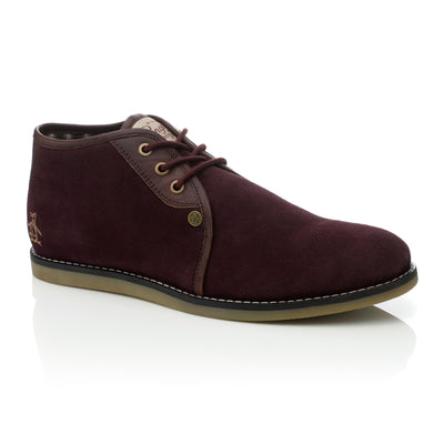 LEGAL DESERT BOOT IN POMEGRANATE