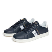 Steadman Striped Trainer In Dark Sapphire
