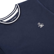 Youth Tipped Pique T-Shirt In Navy