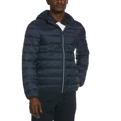 Lightweight Hooded Puffer Jacket In Dark Sapphire