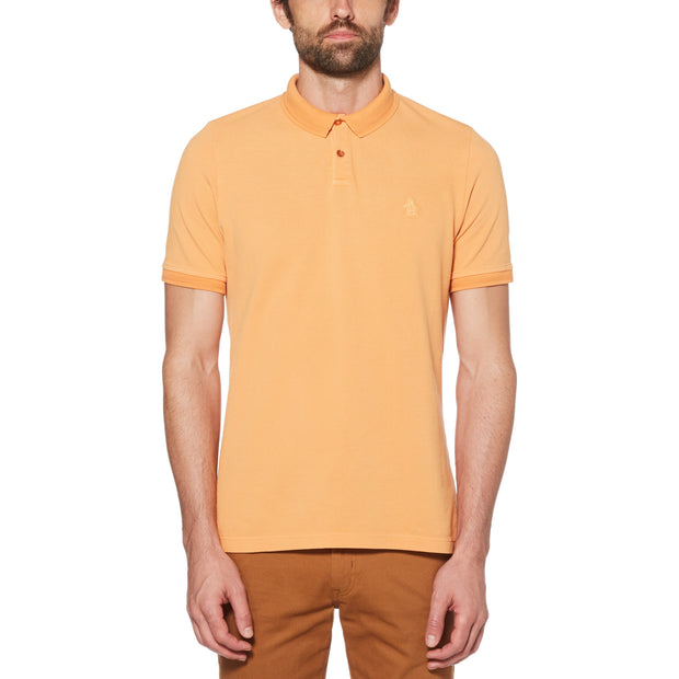 Garment Dye Polo Shirt In Cadmium Yellow