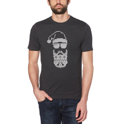 Fairisle Beard T-Shirt In Dark Charcoal Heather