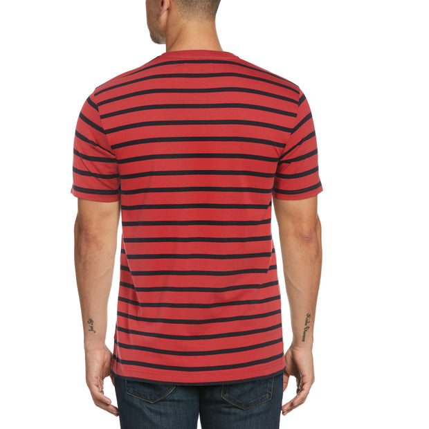Breton Stripe T-Shirt In Cardinal