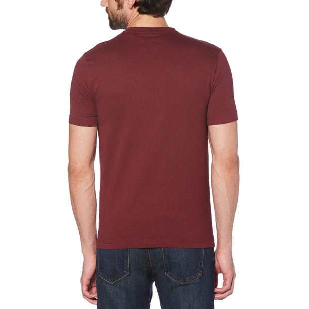 Pin Point Embroidery T-Shirt In Tawny Port